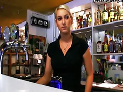 Bubble butt, Barmaid, Paid sex, Bubble butts, Public pov blowjob, Public pov