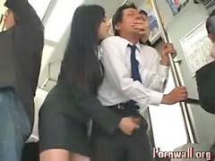 Offentlig, Asiatisk, Stranger handjob