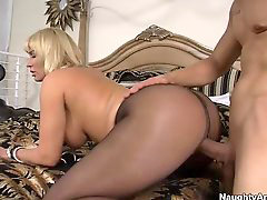Pantyhose, Big tits, Blonde, Big, Tits, Blond