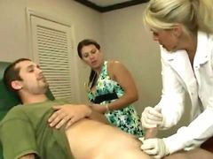 Doctor, Milf, Jerking, Hot