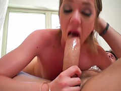 Deepthroat, Big cock, Teen sex, Masturbation, Teen handjob, Teen