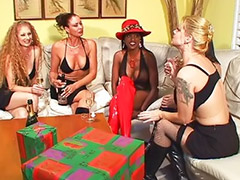 Femdom, Boots, Interracial anal, Stockings anal, Boots strap-on, Blacks on blonde anal