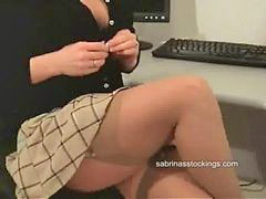 Flash, Nylon, Panties, Secretary, Flashes, Flashing