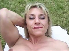 Mature, Muscle, Big clit, Outdoor, Clit