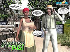 Comic, Comics, Shadows, Shadow of the past, 3d comic, Paste