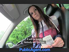 Boob fuck, Public boob, In car fuck, Public agent, Natalie, In car