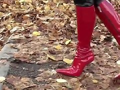 Walk in, Walked in, Red panty, Red hot, Red girl, Red boots