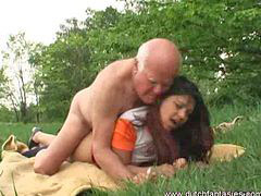 Interracial, Old, Jerking