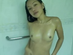 Teen shaved solo, Bathroom girl, Amateur pussy, Asian show, Pussy show, Show her pussy