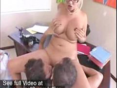 Busty, Threesome, Office