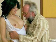Grandpa, Grandpa fucks, Pretty, Teen, Grandpas, Teen horny