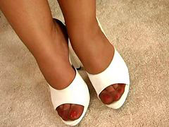 Foot, Nylon, Nylons, Nylon foot, Ebony nylon, Footing