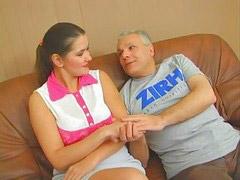 Девка парень и мужик, А русском, Девочка и мужик, Русские девочки