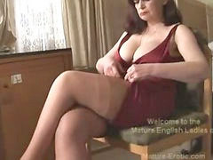 Mature, Matures, Big tits, Striptease, Panties, Tease