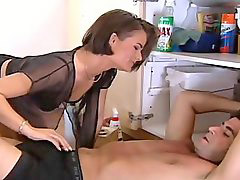 Plumber, Wife french, French wife, Wife fucked husband, Wife fuck husband, Plumberù