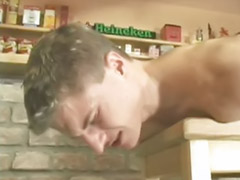 Gay, Toy sex, Gay blowjobs, In bar, Bar, Gay toy