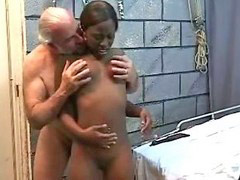 Black, Interracial, Young, Old and young, Old young, Slim