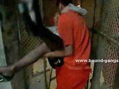 Prisoners, Deepthroat forced, Deepthroat swallow, Video one, In prison, Forced deepthroat