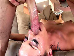 Huge cock, Gagging, Gag, Savannah, Vannah, Stern