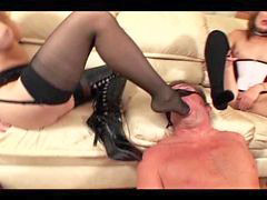 Facesitting, Stockings, Stocking, Stocking footjob, Footj, Face sitting