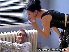 Smoking mina, Smoking brunette, Mina smoking, Interrogate, Interrog, Interrogation