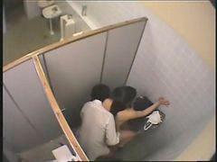 Toalet, Publiczny, Studentki