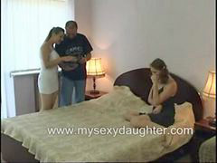 Threesome, Family, Taboo, Father, Daughter, Sex