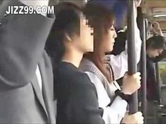 Japanese, Bus, Creampie