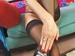 Granny, Cumming granny, High heel fuck, Hairy fuck, Granny big tits, Stocking cum