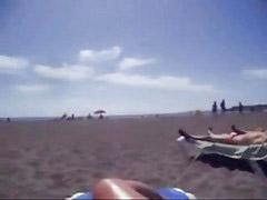 Honení pláž, Pláž, Honění
