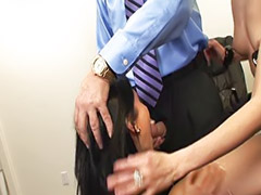 Stockings anal, Blowjobs office, Office threesome, Office anal, Stocking cum, Pornstars anal