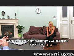 Interviewer, Interviewed, Interview casting, Horny blonde, Blonde interview, Blonde horny