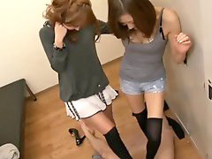 Japanese, Footj, Japan girl, Japanese footjob, Footjobs, Two girl