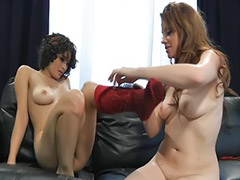 Rimming, Lesbian stockings, Lesbian lick, Lesbian rimming, Raven, Stockings lesbians