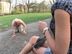 Mistress, Pee, Peeing, German, Slave