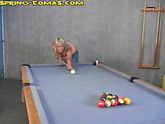 Pool, Masturbation table, Pool masturbation, Pool blonde, Pool blond, Pool table