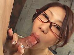 Glasses blowjob, Kana, Fuuka, Blowjob glasses, Ass job, Aka
