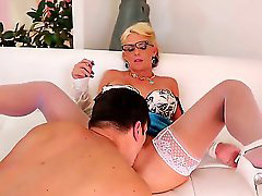 Gives head, Give head, Bang milf, Smoking seduction, Milf smoke, Blue stockings