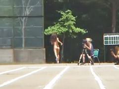 Esmer asyalı, Tarla, Atletizm, Japon genç kızlar