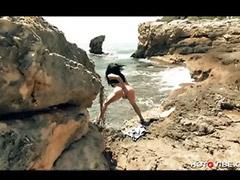 Weiber, Strand mädchen solo, Strand mädchen, Spritzende mädchen, Spritzende girls, Spritzen solo