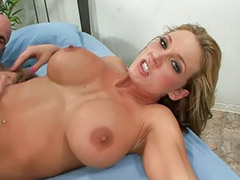 Shaving, Piercing, Blond milf, Nikki, Big tit milf, Big blonde