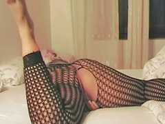 Stockings dildo, Fishnet stockings, Fishnet, Milf dildo, Masturbation toy dildo, Masturbating dildo