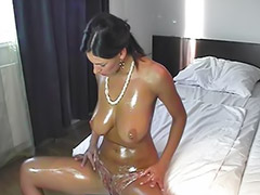 Big tits solo, Shaved solo, Big oil, Oiled solo, G-queen, Anita queen