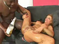 Swallow, Interracial, Squirt, Fisting