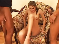 Double anal, Double penetration, Teen, Interracial anal, Black, Double vaginal