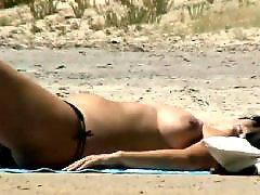 Voyeur, Beach, Big tits