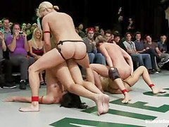 Nude, Wrestling, Long, Big, Fuck, Strap on