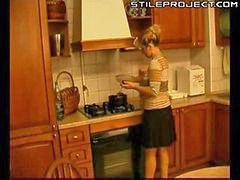Mature, In kitchen, Xlx, Çin mature, Woman mature, Woman fuck