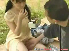 Public, Chinese, Couple, Chinese fuck, Chinese couples, Park