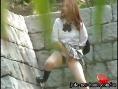 Pee, School girl, Jade net us, Q net , net, Pee girls, Standing